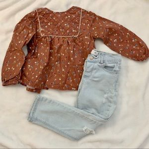 Bundle Zara baby girl blouse and jeans